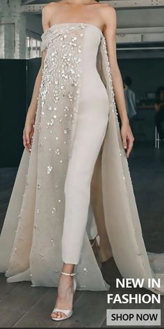 Jumpsuits Gowns for Women - Elegant jumpsuits for women, suitable for daily life and party, multiple size and colors you can op - Elegante Jumpsuits, Sequin Jumpsuit, Jumpsuit Outfit, Evening Dresses, Formal Dresses, Classy Dress, Classy Casual, Classy Style, Bridal Fashion Week