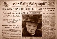 Sir Winston Churchill Dead