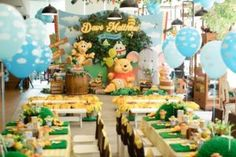 Winnie the Pooh 1st Birthday Party on Kara's Party Ideas   KarasPartyIdeas.com (8)