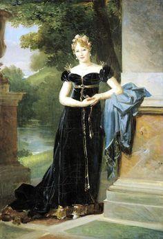 Portrait of Marie Walewska (1786-1816), mistress of emperor Napoleon I of France   François Gérard (1812)