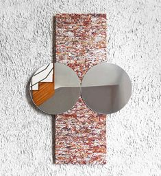 Madrid designer Jorge Penades has turned his Structural Skin material — made from compressed leather scraps — into a mirror inspired by Boro textiles, created for the 31st annual Hyères festival at the Villa Noailles.