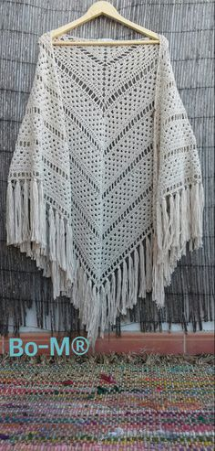 How to Crochet Shawl 1 Crochet Cape, Crochet Poncho Patterns, Crochet Jacket, Knit Or Crochet, Crochet Scarves, Crochet Crafts, Crochet Clothes, Crochet Projects, Crochet Prayer Shawls