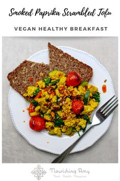 Enjoy this scrambled tofu on toast for a speedy and filling vegan breakfast or serve it up for friends over a lazy brunch – packed with flavour, vegetables and colour. Tofu Recipes, Healthy Recipes, Extra Firm Tofu, Savory Snacks, Smoked Paprika, Vegan Breakfast, Lunches And Dinners, Lazy