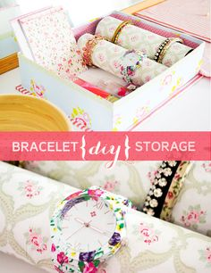 Craft A Doodle Doo: Super Pretty Bracelet & Watch Storage! #organization #inspiration #bracelet