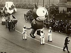 First Giant Balloon, Felix The Cat,  Macy's Parade 1927
