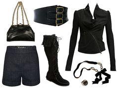Waist cinch and shorts.