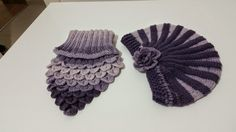 Mercan Design: Lila/Mor Renklerinde Şapka & Boyunluk #handmade #knitting #crochet #hat #beanie #scarf