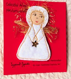 Angel Pin Fabric angel pin cloth angel pin by InspiredSpirits