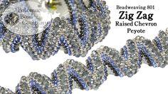 Free Beading Tutorial: Zig Zag Raised Chevron Peyote Bracelet featured in Bead-Patterns.com Newsletter