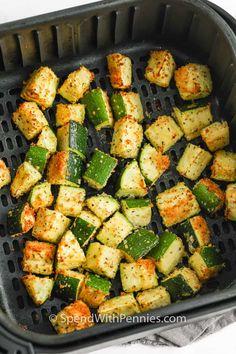 Air Fryer Oven Recipes, Air Frier Recipes, Air Fryer Dinner Recipes, Air Fryer Recipes Zucchini, Zucchini Dinner Recipes, Air Fryer Recipes Vegetables, Air Fryer Recipes Vegetarian, Vegan Vegetarian, Cooking Recipes