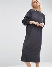 Warehouse | Warehouse Crew Neck Midi Dress