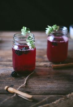 blackberry rum fizz | designlovefest