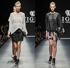 Tiger of Sweden 2014 Spring Summer Womens Runway Collection - Mercedes-Benz Fashion Week Stockholm Sweden Vår Sommar - Poetic Punk: Designer Denim Jeans Fashion: Season Collections, Runways, Lookbooks and Linesheets
