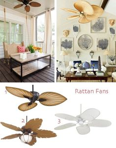 Ceiling Fan Styles for Your Home - Rattan Fans
