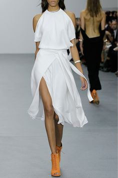 Issa, Birdie White Silk Dress THE BLACK JUMPSUIT IN THE BACK IS AS FABULOUS AS THE WHITE DRESS!!!!!!