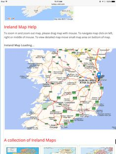 Map Of Ireland An Island Nation Located In Europe Its Capital - Cities map of ireland