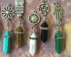 Collar de hada de cristal envuelto collar de cristal / loto