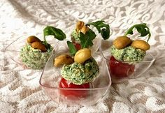 Finger food alla rucola, anacardi e pistacchi