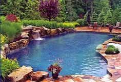 It's my pool! Natural Swimming Pools, Swimming Pools Backyard, Swimming Pool Designs, Pool Landscaping, Lap Pools, Natural Pools, Indoor Pools, Swimming Pool Pictures, Pool Contractors