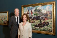 Ellen Roberts, Harold and Anne Berkley Smith Curator of American Art and @hudsonrivermuseum curator Bartholomew F. Bland. #americanart #newyork #landscapes