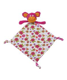 Take a look at this Pink Funny Monkey Lovey by Maison Chic on #zulily today!