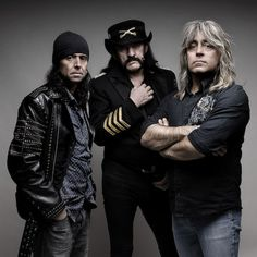 Motorhead - Phil Campbell, Lemmy & Mickey Dee