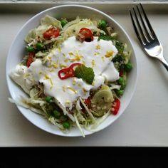 Tonight's dinner - Quinoa & Fennel salad with Lemon + Chilli Ricotta. So damn delicious! #IQS8WP #IQS