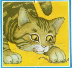 Vintage Wandbehang Katze Kätzchen Schule von CuteEyeCatchers