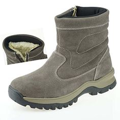 Slip On Boots, Short Boots, Suede Leather, Hiking, Snow, Warm, Chain, Amazon, Blue