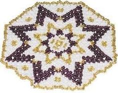 Image result for seed bead doily patterns Doily Patterns, Beaded Ornaments, Doilies, Seed Beads, Needlework, Beaded Jewelry, Seeds, Projects To Try, Arts And Crafts
