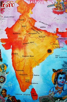 Map of India, taken from We Live in India by Philippe Godard India Map, India Travel, Pakistan, Floating Globe, Mother India, Hindu Rituals, Amazing India, Indian Colours, Map Globe