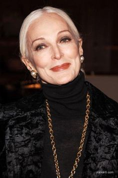 Carmen dell'Orefice, 82 in 2013 , she is the industry' oldest working model. Classic beauty in the bones goes on and on. Gorgeous.