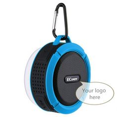 Portable IP65 Waterproof Sucking Bluetooth Speaker C6 for Mobile Phone  *Bluetooth: V3.0 *Distance: ≤10m *Speaker: 3W 45mm *Frequency: 150Hz – 20KHz *Sensitivity: 110dB+/-3dB *Battery: Built-in lithium *Charge: ≤3h, DC 5V *Support: IP65 waterproof, Handfree for calls, TF card, FM radio (optional) *Unit size: 87x95x44mm *Color: Red, blue, black, gray, green, white  Model #: KS-BS047 Wholesale MOQ: 10pcs OEM MOQ: 500pcs  Kingsun Speaker