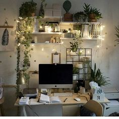 I would never leave my work-space if it looked like this : CozyPlaces - room Inspiration - Dorm Room Study Room Decor, Cute Room Decor, Room Ideas Bedroom, Bedroom Decor, Bedroom Inspo, Wall Decor, Aesthetic Room Decor, Cozy Room, Home Office Design