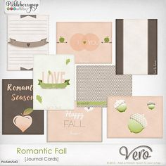 Romantic Fall [Journal Cards] By Vero