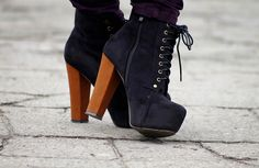 Being too tall to wear high heels is really frustrating when cute shoes like this exist.