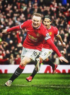 Wayne Rooney and Rademel Falcao - Manchester United