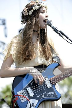 Charlotte Kemp Muhl of The Ghost of a Saber Tooth Tiger performs during the 2015 Coachella Valley Music and Arts Festival at The Empire Polo Club on April 10, 2015 in Indio, California.