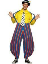 Adult Male Stripey the Clown Costume -Funny Costumes -Mens Costumes -Halloween Costumes - Party City