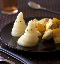 Purée fantôme d'Halloween et poulet au potiron - les meilleures recettes de cuisine d'Ôdélices