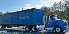 blue company truck | BLUELINX LAWRENCEVILLE GEORGIA INTERNATIONAL Day Cab Truck,