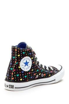 Hearts Converse High Top Sneaker
