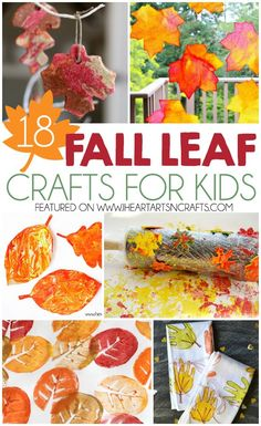 Fun fall leaf crafts for kids!