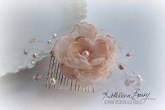 Alex R560 da sposa capelli pettine pettine velo - parrucchino - floreale - - rosa cipria o la vostra scelta