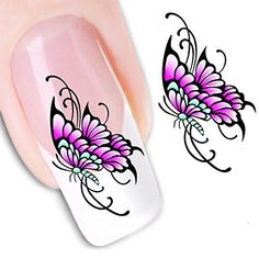 Ottery Lovely Butterfly Nail Stickers Water Transfers Stickers Nail Art Nail Decals >>> Learn more by visiting the image link. Note:It is Affiliate Link to Amazon.