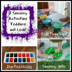 3 Sensory Activities Toddlers will Love! - Pinned by @PediaStaff – Please Visit  ht.ly/63sNt for all our pediatric therapy pins