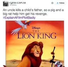 "Help me, pig and big rat-Josh|||Childhood ruined…again. | 21 Of The Funniest Tweets From The ""Explain A Film Plot Badly"" Hashtag"
