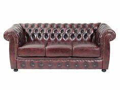 CHESTER 3-sits Soffa Oxblod i gruppen Inomhus / Soffor / 2-4-sits soffor hos Furniturebox (110-94-23874)