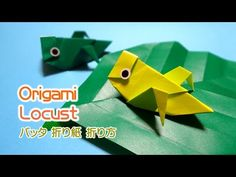 Origami Locust / 折り紙 バッタ 折り方 - YouTube Bug Crafts, Geek Crafts, Crafts For Kids, Arts And Crafts, Paper Crafts, Origami And Kirigami, Origami Easy, Origami Patterns, Altoids Tins