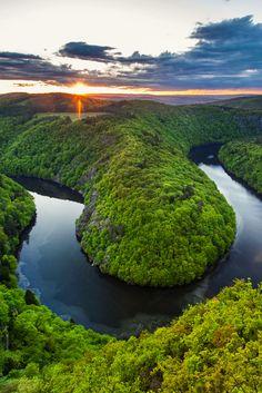 Vltava river meandres, Czechia